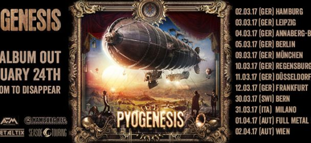 """Vorbericht: PYOGENESIS: """"A Kingdom To Disappear"""" – Tour 2017"""