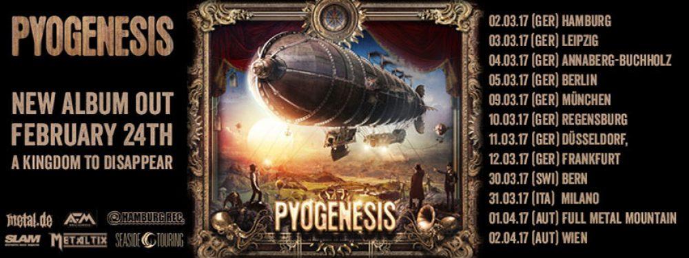 Pyogenesis / Anchors & Hearts Live 12.03.2017 FFM – Nachtleben