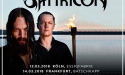 SATYRICON – Tour 2018; als Support sind SUICIDAL ANGELS bestätigt !!!