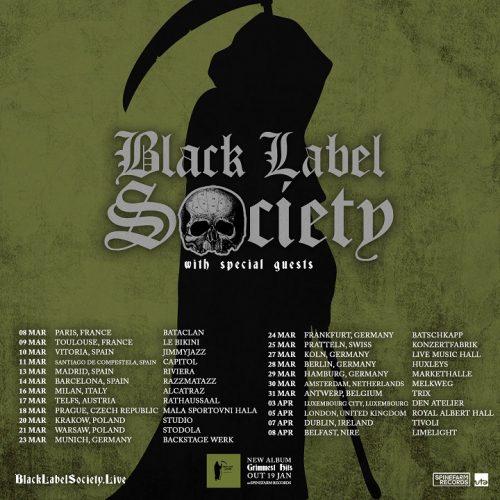 BLACK LABEL SOCIETY -2018 European Tour + New Studio Album