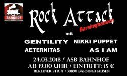 ROCK ATTACK am 24.03.2018 im ASB-Bahnhof in Barsinghausen