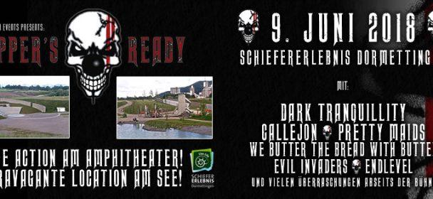 SUPPER'S READY 2018  am 9. Juni in SchieferErlebnis Park Dormettingen mit u.a. DARK TRANQUILLITY, CALLEJON