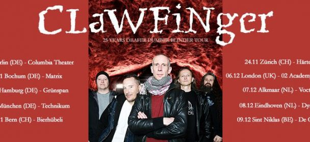 "News: CLAWFINGER – ""Deafer Dumber Blinder"" – Tour im Herbst"