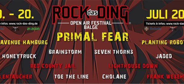 News: Rock das Ding Festival 2019 – die ersten Bands stehen fest!!!