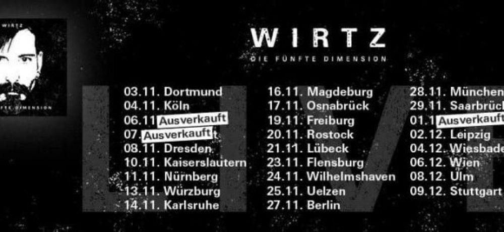 """WIRTZ """"Die fünfte Dimension Tour"""", 04-12-2018, Schlachthof / Wiesbaden"""
