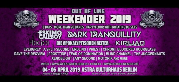 Vorbericht: OUT OF LINE WEEKENDER Festival – 4., 5. und 6. April 2019, Berlin / Astra Kulturhaus