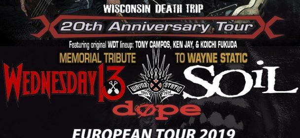 News: WEDNESDAY 13 – verkünden Europa-Tour mit STATIC-X