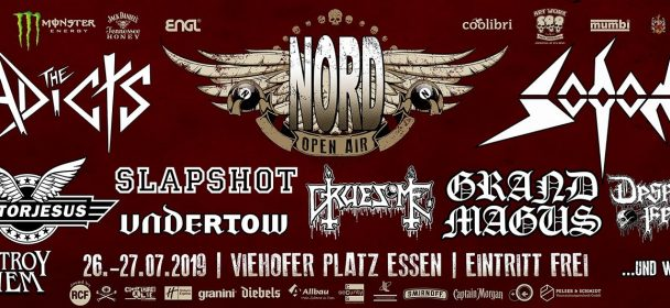 News: NORD OPEN AIR – 26. – 27.7. in Essen mit u.a. SODOM, Deserted Fear, Grand Magus, Madball uvm. EINTRITT FREI!