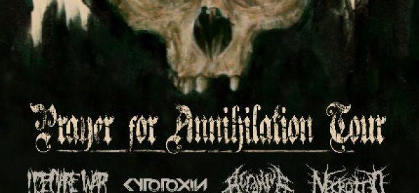 News: Prayer For Annihilation Tour 2019 – I Declare War, Cytotoxin, Acranius und Necrotted