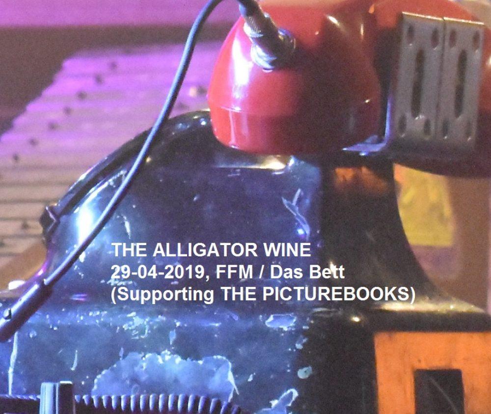 THE ALLIGATOR WINE 29-04-2019, FFM / Das Bett