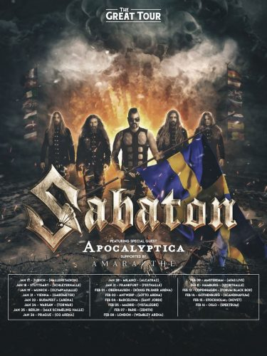 Chili Peppers Tour 2020 News: Apocalyptica – The Great Tour with Sabaton in 2020
