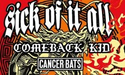 News: DRAGON FIRE TOUR: SICK OF IT ALL, COMEBACK KID, CANCER BATS – Tour 2019 !!!