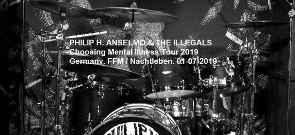 Live Review PHILIP H. ANSELMO & THE ILLEGALS, 01-07-2019, FFM / Nachtleben