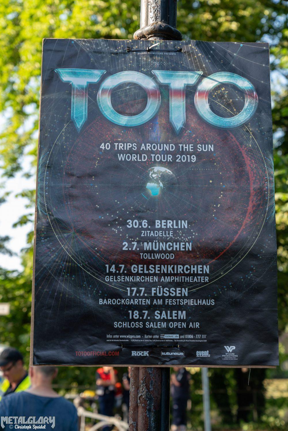 "TOTO ""40 Trips Around The World Tour 2019"", 30.06.2019, Zitadelle Spandau, Berlin"