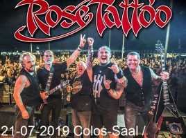 ROSE TATTOO 21-07-2019, Aschaffenburg, Colos-Saal -Support: HARDBONE