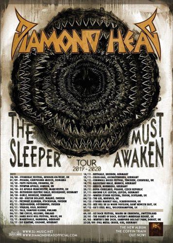 "Saxon Tour Dates 2020 News: DIAMOND HEAD unleash video for ""THE SLEEPER""; Dates added to"