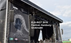 ELB-RIOT Festival, 17-08-2019 Hamburg / Großmarkt mit In Flames, Airbourne, Hatebreed, Of Mice And Men, Dragonforce, Zeal & Ardor, Jinjer, Shvpes)