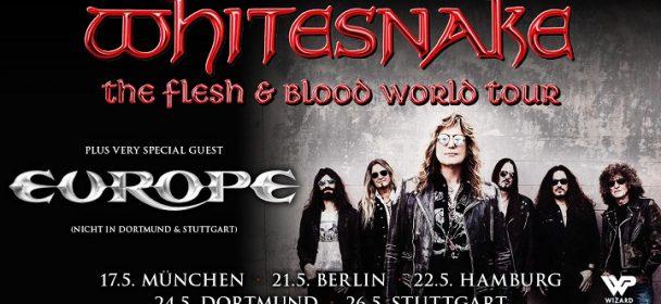 News: WHITESNAKE –   The Flesh & Blood World Tour 2020 mit u.a. Europa!