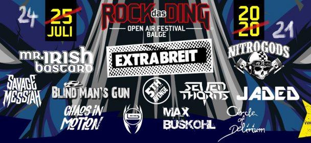 News: Rock das Ding Festival nun am 24.07.2021 !!!