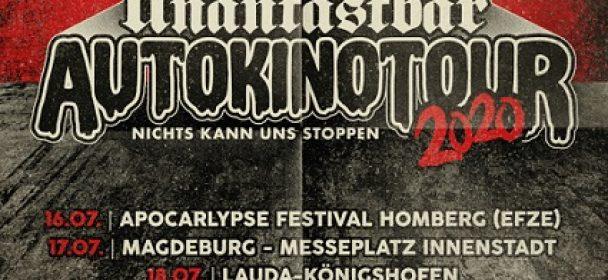 News: UNANTASTBAR – 'AUTOKINO TOUR 2020: Nichts kann uns stoppen'