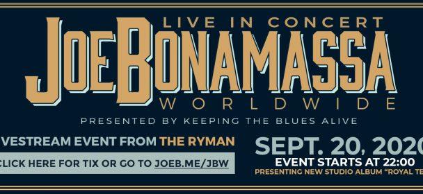News: Joe Bonamassa Livestream Show am 20.09. & das neue Album wird erstmals komplett live vorgestellt