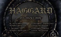 News: Haggard live Ende September/ Anfang Oktober 2020 !!!