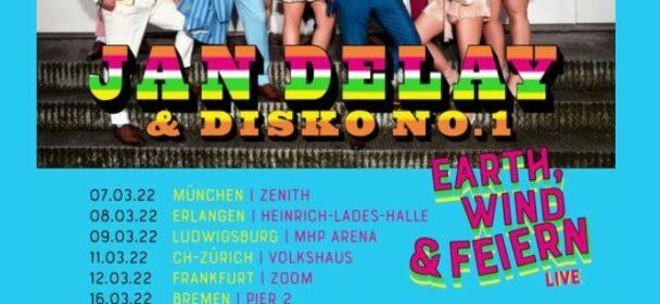 "News: JAN DELAY & Disko No. 1 ""Earth, Wind & Feiern – LIVE 2022"" – die Termine!"