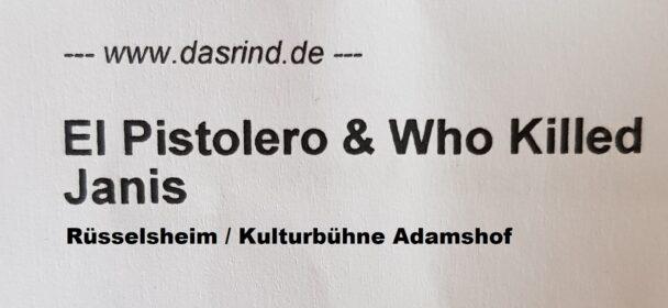 LIVEREVIEW: BEARDS & BASTARDS- Who Killed Janis & El Pistolero, 24-07-2021 Rüsselsheim / Adamshof Kulturbühne