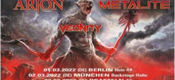News: BLOODBOUND ab März 2022 auf Europatour – ARION, METALITE und VEONITY mit dabei!