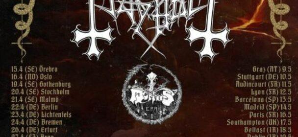 "News: The True MAYHEM ""Northern Ritual"" European tour 2022 featuring Mortiis – re-scheduled dates!"